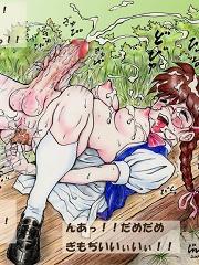Naughty futa girl masturbating alone